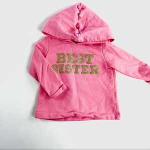 """Carters """"Best sister"""" baby sweater"""